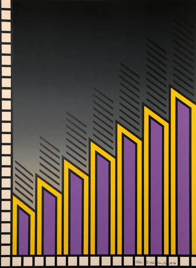 Nicholas Krushenick, 'Untitled - Purple Bars', ca. 1971