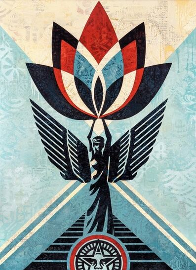 Shepard Fairey, 'Lotus Angel ', 2020