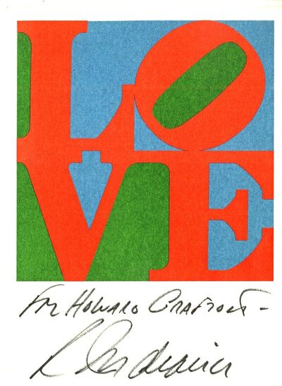 Robert Indiana, 'Rare Vintage Love Card (Hand Signed and Inscribed)', 1979