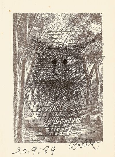 César, 'Owl with piercing eyes', 1989