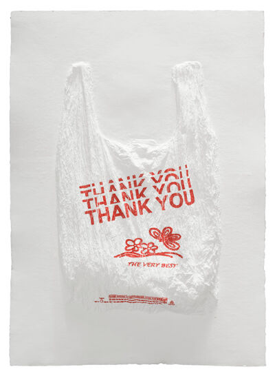 Analía Saban, 'THANK YOU THANK YOU THANK YOU THANK YOU THE VERY BEST Plastic Bag', 2016
