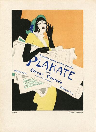 """Walter Schnackenberg, '""""Consee"""", Kostume, Plakate und Decorationen', 1920"""