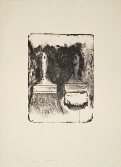 Jim Dine, 'Brushes Drawn on Stone #5', 2010