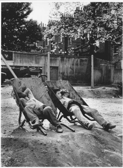John 'Hoppy' Hopkins, 'Kids in Wheel Barrows', ca. 1963
