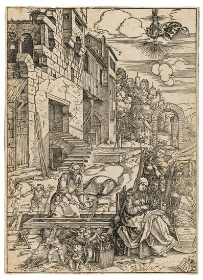 Albrecht Dürer, 'The Holy Family in Egypt, from: The Life of the Virgin', circa 1502