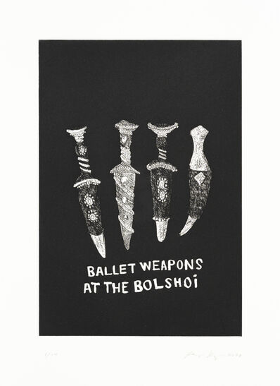 Ragnar Kjartansson, 'Ballet Weapons', 2020