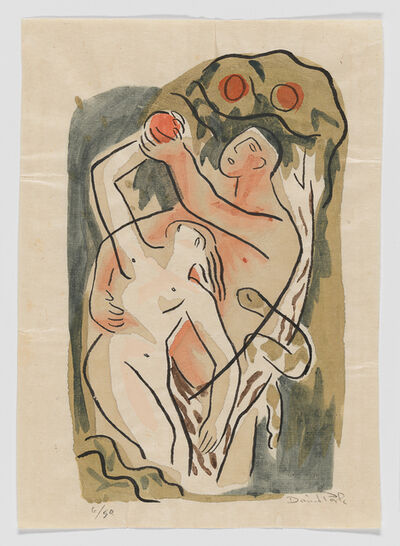 David Park, 'Adam and Eve, from the Genesis series', ca. 1934