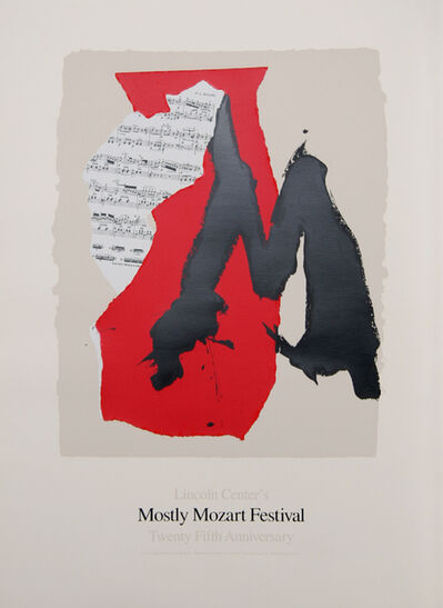 Robert Motherwell, 'Lincoln Center Mostly Mozart, 25th Anniversary', 1991