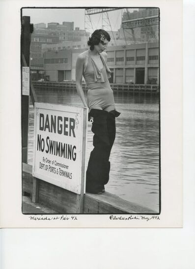 Darleen Rubin, 'DANGER No Swimming, Pier 42, Morton Street Pier', 1972