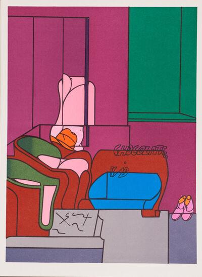 Valerio Adami, 'Kid Chocolate from Derrière le Miroir', 1970