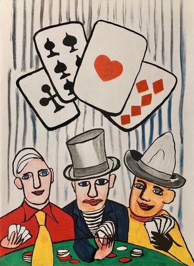 Alexander Calder, 'Jouers de cartes III', 1975