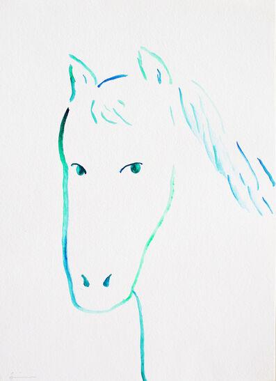 Nobuhiro Shimura, 'Portrait of horse #2', 2020
