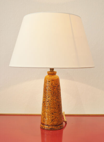 Gunnar Nylund, 'Table lamp in yellow glazed ceramic', ca. 1940