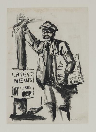 Durant Sihlali, 'First Monoprint On My Portable Press', 1977