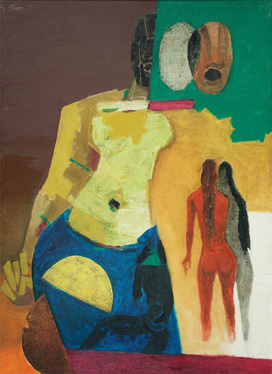 M. F. Husain, 'Arrival', Not dated