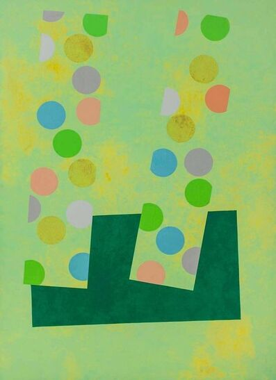 """Richard Hennessy, 'Huge Oil Painting """"Jeu D'enfant"""" Colorful Vibrant Abstract Geometric', 1970-1979"""