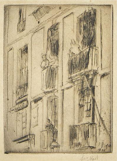 Walter Richard Sickert, 'Dieppe, La Ruede la Halle au Blé [Bromberg 114]', 1893