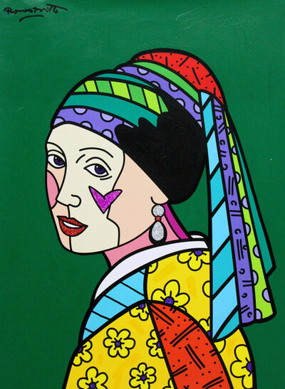 Romero Britto, 'Green Dutch', 2018