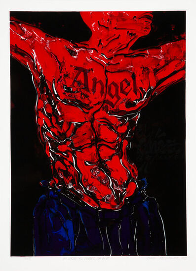 Chaz Bojorquez, 'Mi Hijo El Angel', 1998