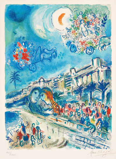 Marc Chagall, 'Bataille de Fleurs (Carnaval of Flowers) from Nice and the Côte d'Azur', 1967