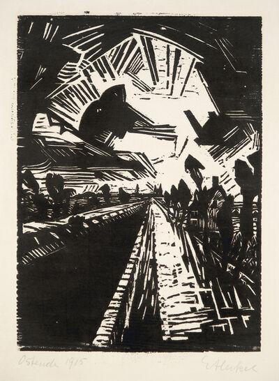 Erich Heckel, 'Gerader Kanal (Straight Canal)', 1915