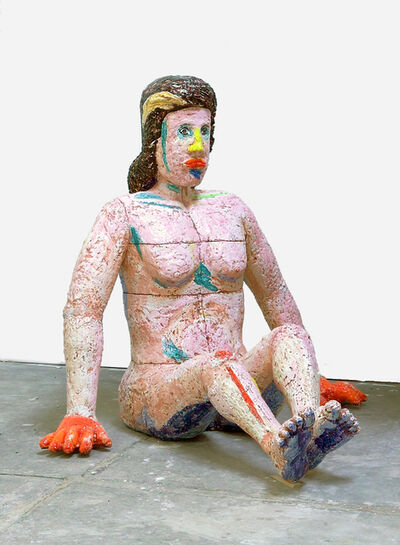 Viola Frey, 'Stubborn Woman, Orange Hands', 2003-2004