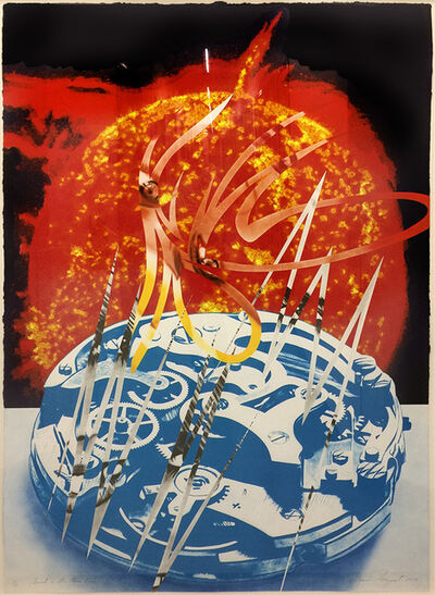 James Rosenquist, 'Sun Sets on the Time Zone ( From Welcome to the Water Planet and House of Fire Series)', 1989
