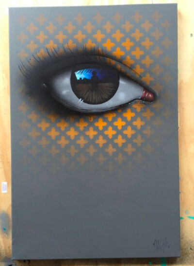 My Dog Sighs, 'Digital Fields (Orange)', 2016