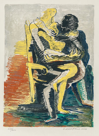 Ossip Zadkine, 'The Lovers', 1964