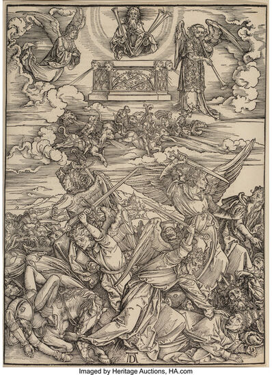 Attributed to Albrecht Dürer, 'The Four Avenging Angels, from The Apocalypse', circa 1497