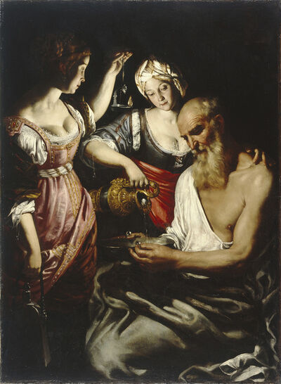 Giovanni Francesco Guerrieri, ' Lot and his Daughters leaving Sodom', 1617-1618