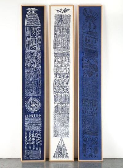 Rachid Koraïchi, 'From the series Les Sept Variations Indigo ', 2002