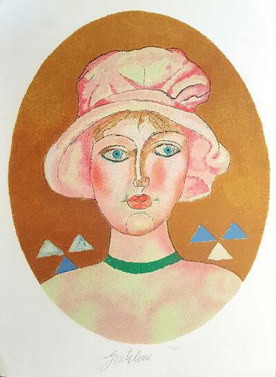 Franco Gentilini, 'Ragazza Nell'ovale Giallo', 1981