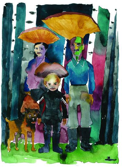Nikita Shalenny, 'Family and Birches II', 2015