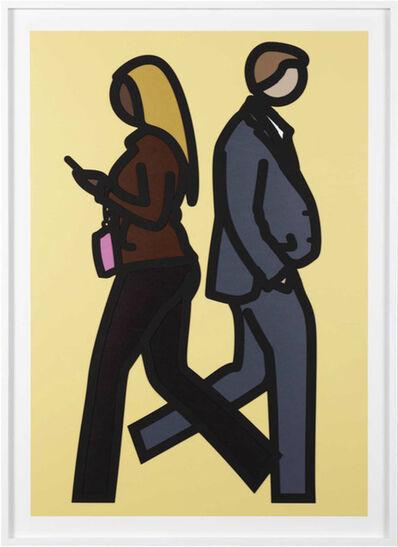 Julian Opie, 'New York Couple 5 (yellow)', 2019