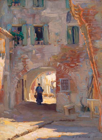 Aldro Thompson Hibbard, 'Street Scene with Figure (possibly Chioggia, Italy)', 1914