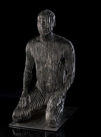 Julian Voss-Andreae, 'Kneeling man', 2016