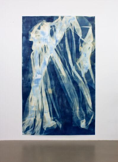 Ulla von Brandenburg, 'Vorhang Blau 16', 2019