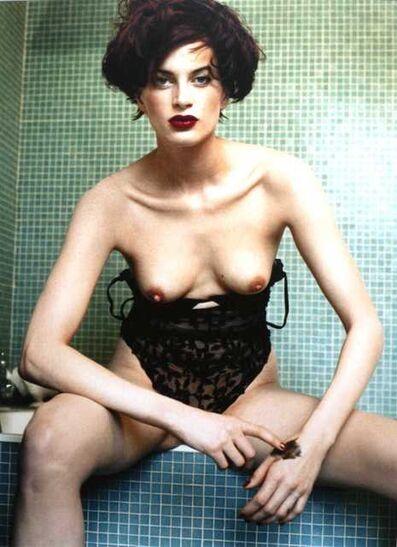 "Bettina Rheims, '""Kristen  McMenamy with black  make-up on her hand""Paris 1994', 2004"