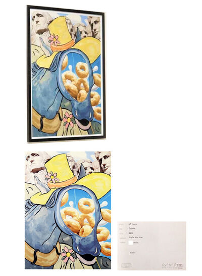 "Jeff Koons, '""Cut Out"", 2000, Digital Flex Print, Signed/Numbered Edition of 1000, Eyestorm Publishing, Framed by Publisher.', 2000"