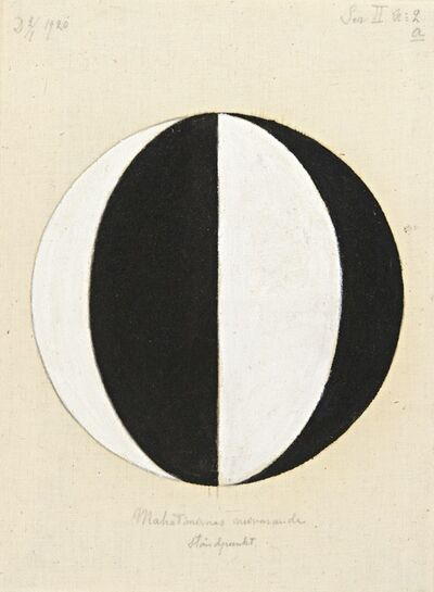 Hilma af Klint, 'No. 2a, The Current Standpoint of the Mahatmas (Nr 2a, Mahatmernas nuvarande ståndpunkt),  from Series II (Serie II)', 1920