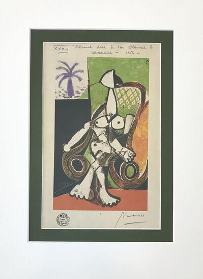 Pablo Picasso, 'Femme nue dans le fauteuil e bascule', 1956