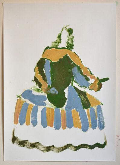 Ed Burkes, 'Girl In A Blue Dress ', 2018