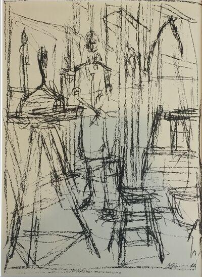 Alberto Giacometti, 'Buste dans l'atelier ', 1951