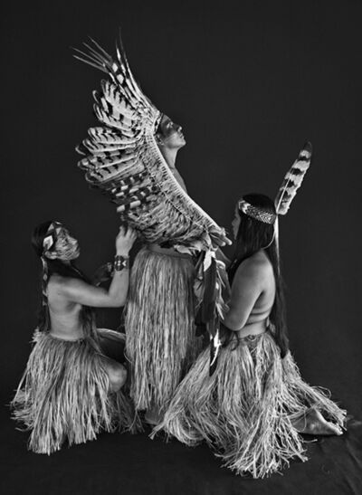 Sebastião Salgado, 'Three Figures from the Yawanawa Indigenous Group, State of Acre, Brazil', 2016