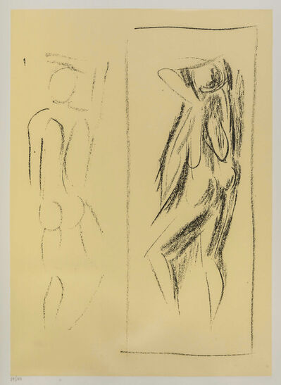 Pericle Fazzini, 'Nudo allo specchio', 1987