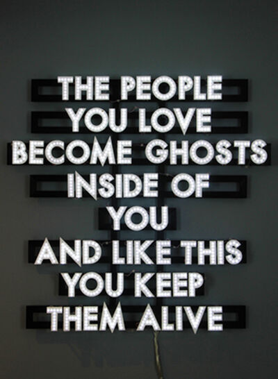Robert Montgomery, 'The People You Love', 2013