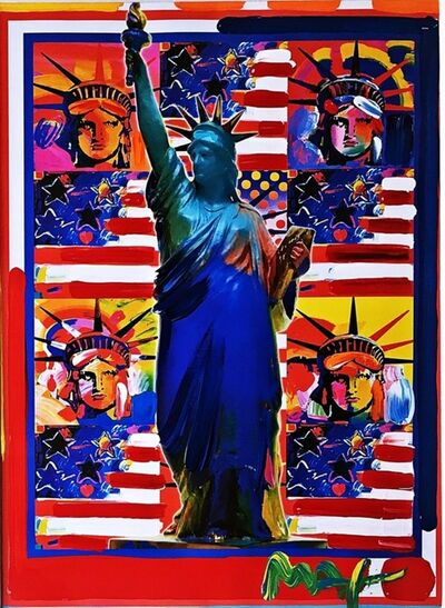 Peter Max, 'God Bless America with Five Liberties', 2001