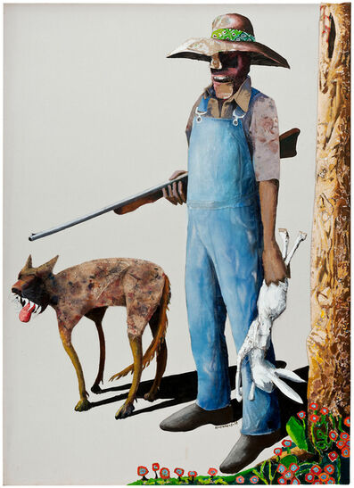 Benny Andrews, 'Hunters', 1989