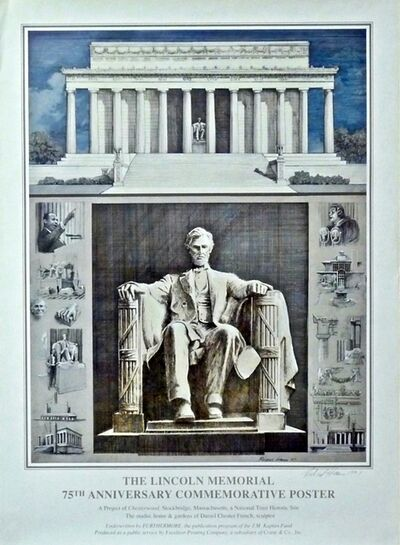 Richard Haas, 'Abraham Lincoln, (Hand Signed)', 1997